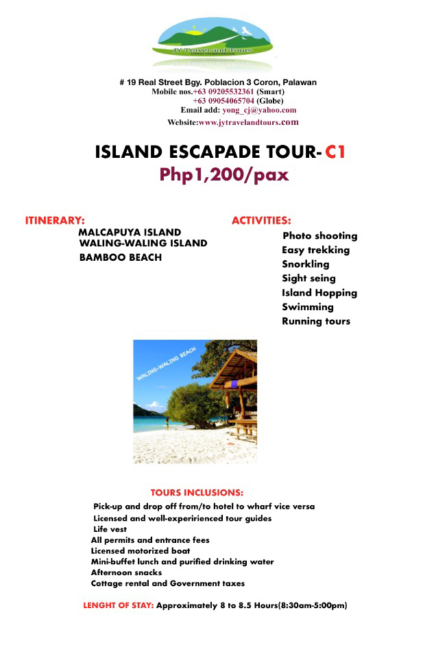Tour A (Helicopter Island)