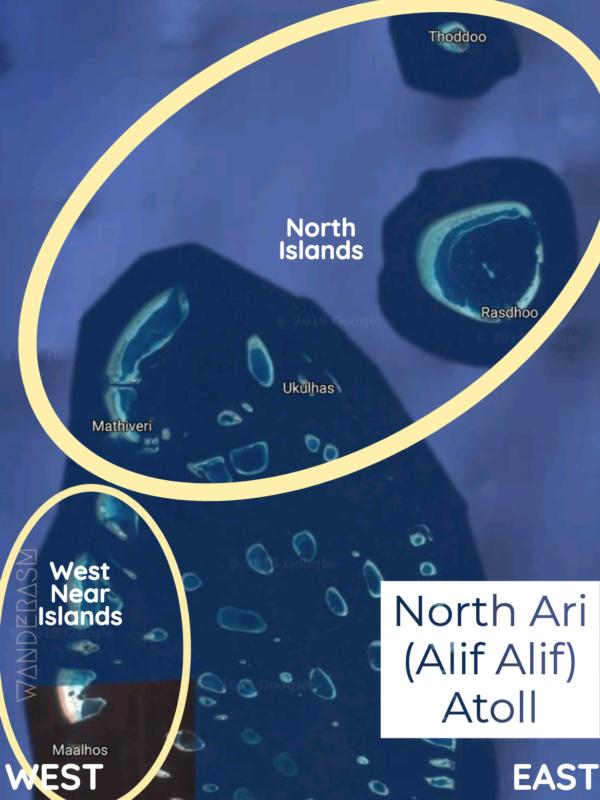 Map of North Ari/Alif Alif Atoll